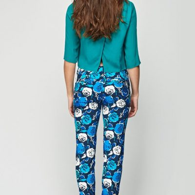 Floral Straight Leg Trousers - Sojoee.com