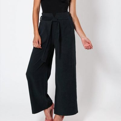 Wide Leg Suede Trousers - Sojoee.com