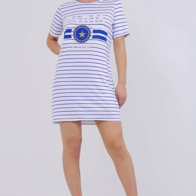 Paris Stripe Slogan T-shirt – Sojoee.com