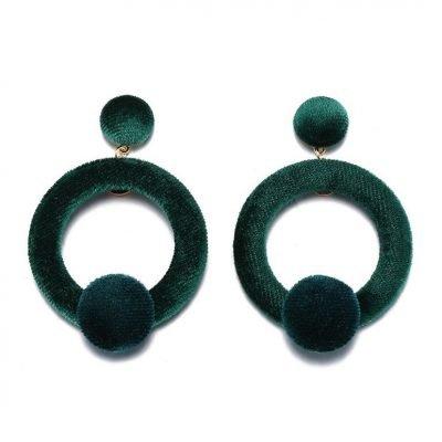 Elegant Suedette Round Earrings - Sojoee.com