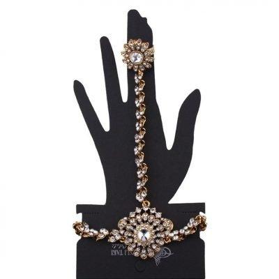 finger ring bracelet designs in gold
