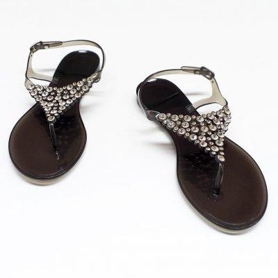 Studded Flat PVC Sandals - Sojoee.com