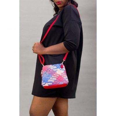 Mini Contrast Woven Bag