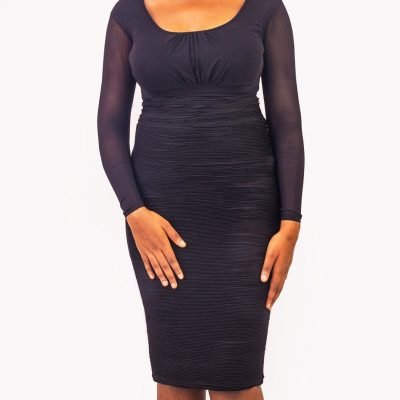 Detailed Pencil Skirt With Elasticated Waist