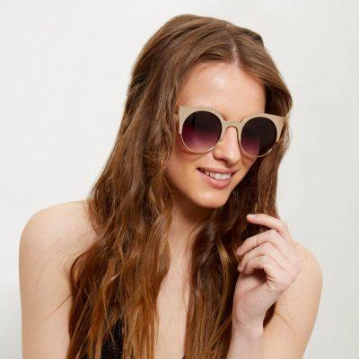 Silver Half Frame Sunglasses