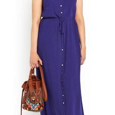 Plus Size Maxi Shirt Dress