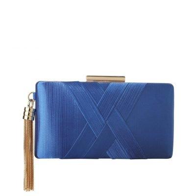 Blue Tassel Clutch - Sojoee.com