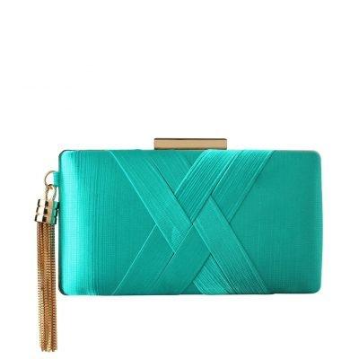 Emerald Tassel Clutch - Sojoee.com