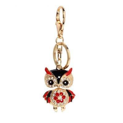 Charming Bird Owl Metal Key Chain Bag Charm - Sojoee.com