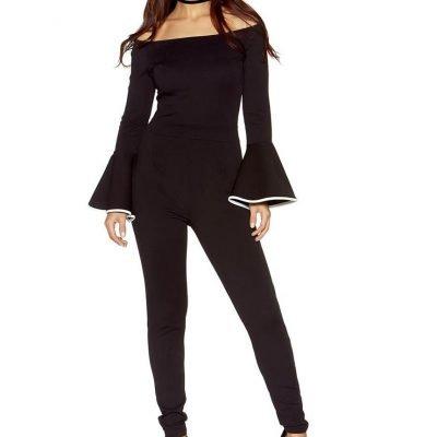 Bardot Long Sleeve Jumpsuit - Sojoee.com