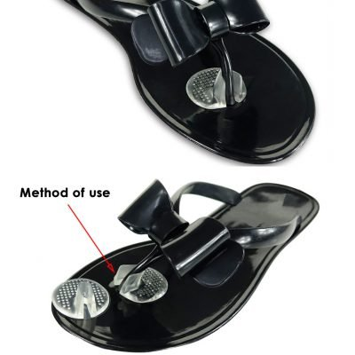 Flip flops forefoot invisible sticky pads