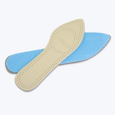 Pointed cowhide insole shoe pad