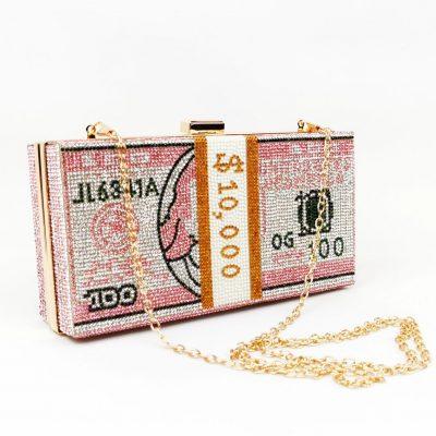 Money glitter purse