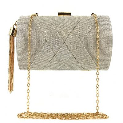 silver party purse