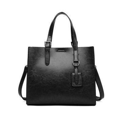 Black big handbags for women
