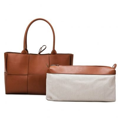 Brown High Quality PU Leather Large Capacity Bag