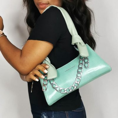Mint Green Mini Chain Hand Ladies Bag