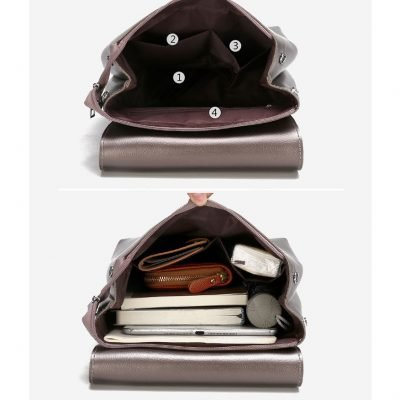 Multi-function Premium Leather Backpack For Women