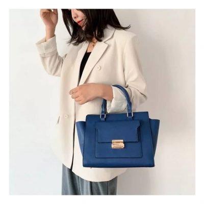 Blue Crossbody Female Office Handbag