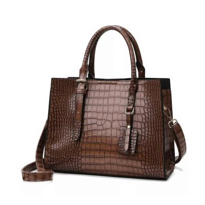 brown leather work bag for women