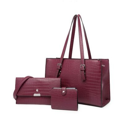 Purple Croc Skin Womens handbag