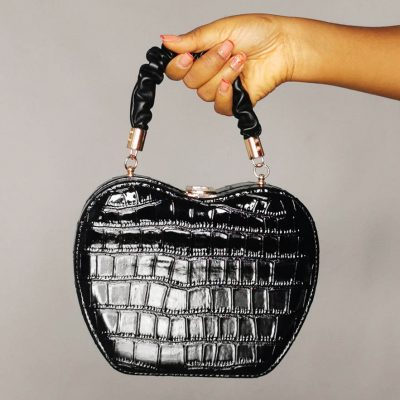 Apple Shaped Patent Female Outing Mini Bag