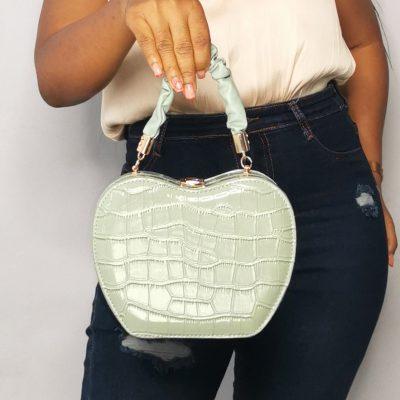 Apple Shaped Female Outing Mint Green Mini Bag