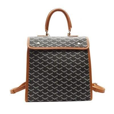 Brown Large Capacity Unisex Backpack