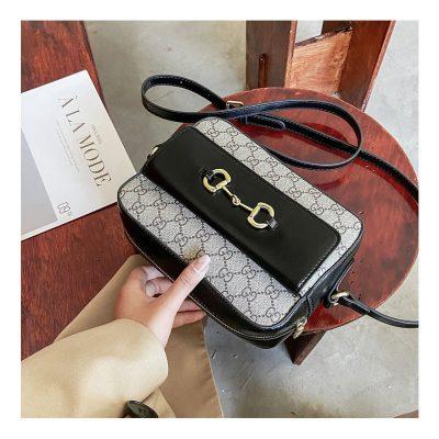 Black Designer Inspired Unisex Messenger Bag