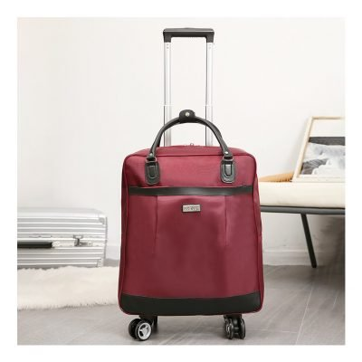 Burgundy Cabin Approved Travel Luggage