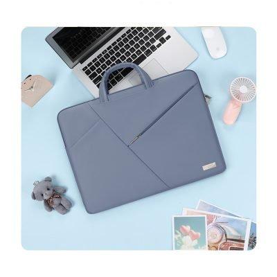 Ladies fancy blue laptop bag