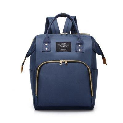 Navy Blue Large Capacity Baby Diaper Bag