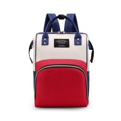 Multicolored Large Capacity Baby Diaper Bag