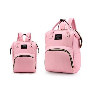 Pink Large Capacity Baby Diaper Bag