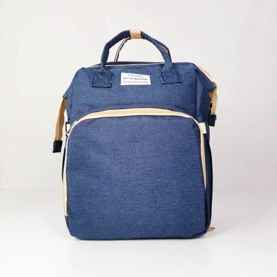 Navy Blue Multifunctional Portable Folding Baby Diaper Bag