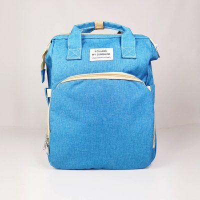 Light Blue Multifunctional Portable Folding Baby Diaper Bag