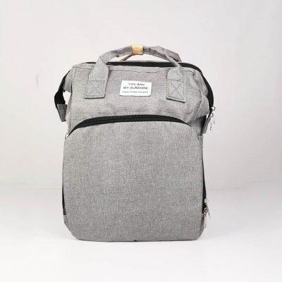 Grey Multifunctional Portable Folding Baby Diaper Bag