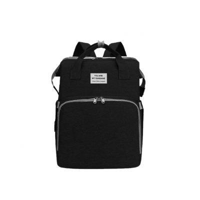 Black Multifunctional Portable Folding Baby Diaper Bag