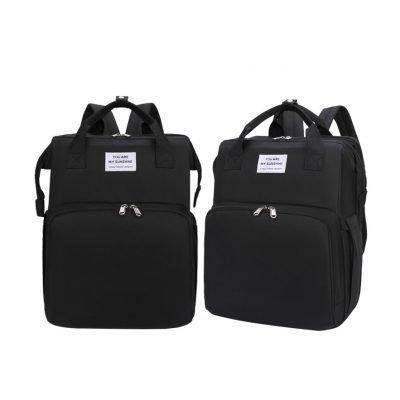 Black Multifunctional Baby Diaper Bag