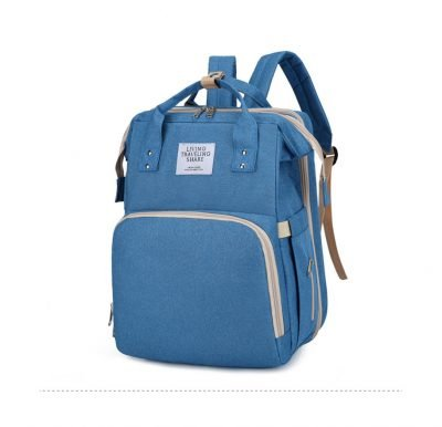 Blue Large-capacity Mother and Baby Diaper Bag