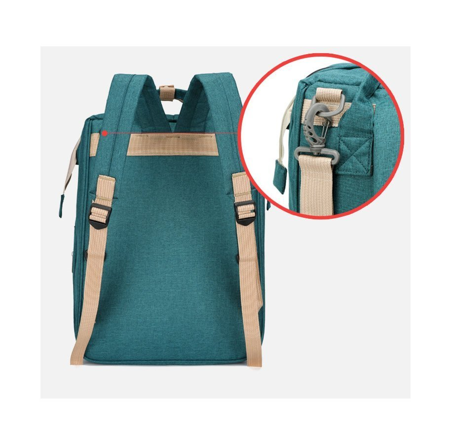 Green Large-capacity Mother and Baby Diaper Bag