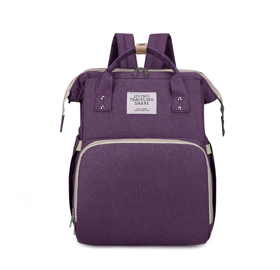 Purple Large-capacity Mother and Baby Diaper Bag