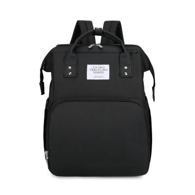 Black Large-capacity Mother and Baby Diaper Bag