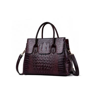 Real Leather womens purple handbags