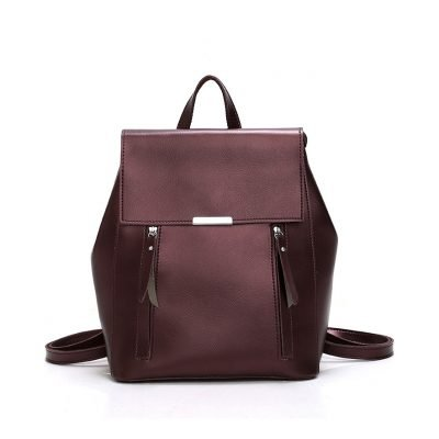 Multi-purpose Fashion brown backpack for women