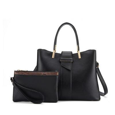 2 in 1 bag set womens black handbag