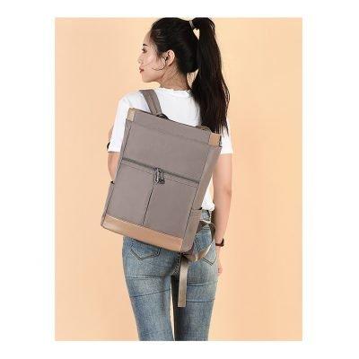 Oxford cloth multipurpose unisex Khaki backpack