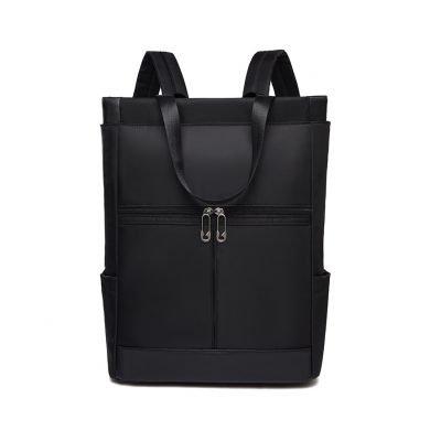 Oxford cloth multipurpose unisex Black backpack