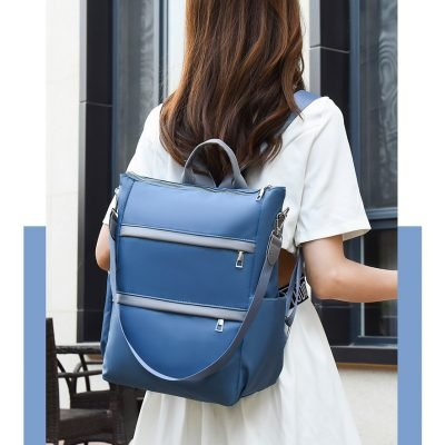 Blue Large capacity oxford cloth backpack