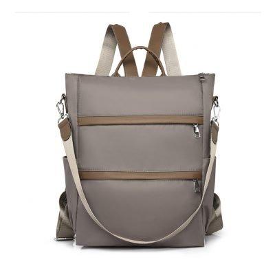 Khaki Large capacity oxford cloth backpack